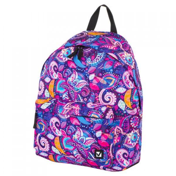Рюкзак BRAUBERG, универсальный, сити-формат, Восточный узор теплый, 20 литров, 41х32х14 см, 228850