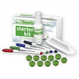 Набор для магнитно-маркерной доски (4 маркера + стиратель + чистящее средство + 10 магнитов), 2х3 ecoBoards, AS116