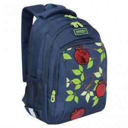 Рюкзак GRIZZLY школьный, анатомическая спинка, пайетки, Яблоня, 41x27x20 см, RG-062-1/1