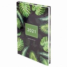 Ежедневник датированный 2021 (145х215мм), А5, STAFF, ламинированная обложка, Дизайн 8, 111823