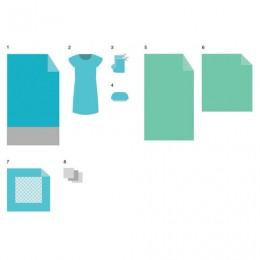 Комплект белья одноразовый акушерский КБР-02 ГЕКСА стерильный, 8 предметов