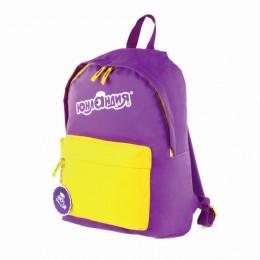 Рюкзак ЮНЛАНДИЯ с брелоком, универсальный, фиолетовый, 44х30х14 см, 227955