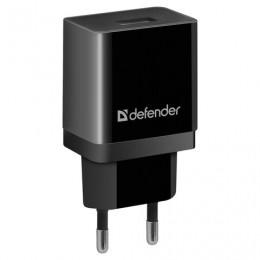 Зарядное устройство сетевое (220 В) DEFENDER UPC-13, кабель Type-C, 1 порт USB,вых. ток 2,1 А,черное, 83559