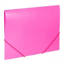 Папка на резинках BRAUBERG Office, розовая, до 300 листов, 500 мкм, 228083