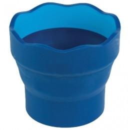 Стакан для воды FABER-CASTELL Clic&Go, складной, пластиковый, синий, 181510