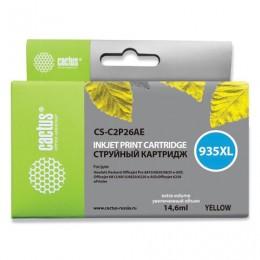 Картридж струйный CACTUS (CS-C2P26AE) для HP Officejet Pro 6830/6230, желтый, ресурс 1000 стр.