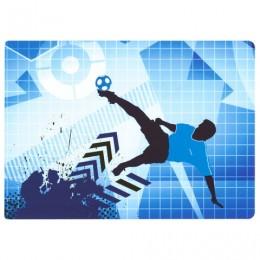 Настольное покрытие для письма и творчества ПИФАГОР, размер А4, пластик, Футбольный мяч, 227252