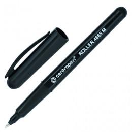 Ручка-роллер CENTROPEN, трехгранная, корпус черный, узел 0,7 мм, линия 0,6 мм, черная, 4665/1Ч