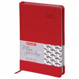Ежедневник датированный 2022 А5 (138х213мм) BRAUBERG Rainbow красный, 112769