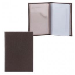 Бумажник водителя FABULA Largo, натуральная кожа, тиснение, 6 пластиковых карманов, коричневый, BV.1.LG