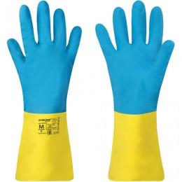 Перчатки неопрен ЛАЙМА НЕОПРЕН EXPERT, 100гр/пара, химически устойчивые, х/б напыл, 605004