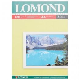 Фотобумага для струйной печати, А4, 130 г/м2, 50 листов, односторонняя глянцевая, LOMOND, 0102017