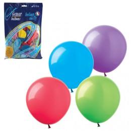 Шары воздушные 8 (21 см), комплект 100 шт., 12 пастельных цветов, в пакете, 1101-0023