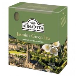 Чай AHMAD (Ахмад) Jasmine Green Tea, зелёный с жасмином, 100 пакетиков по 2 г, 475i-08