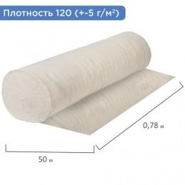 Полотно НЕТКОЛ, Узбекистан, рулон 0,78х50 м, плотность 120 (±5) г/м2, упакован в пакет, ЛАЙМА, 607523