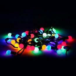 Электрогирлянда светодиодная УЛЬТРАЯРКАЯ, 50 ламп, 5 м, многоцветная, с контроллером, 21356