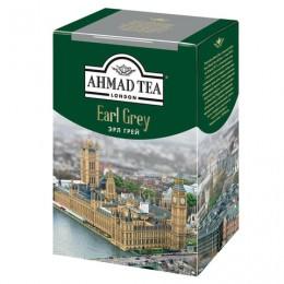 Чай AHMAD (Ахмад) Earl Grey, черный листовой, с бергамотом, картонная коробка, 200 г, 1290-012