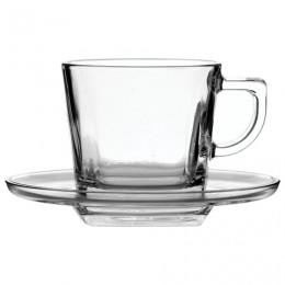 Набор чайный, на 6 персон (6 чашек объемом 210 мл, 6 блюдец), стекло, Baltic, PASABAHCE, 95307