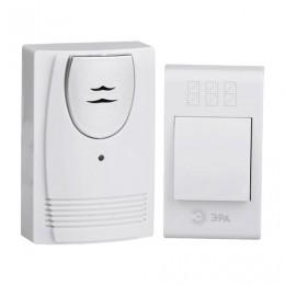 Звонок беспроводной ЭРА С61, 32 мелодии, подсветка динамика, до 100 м, IP20, белый