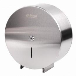 Диспенсер для туалетной бумаги LAIMA PROFESSIONAL INOX, (Система T2), нержавеющая сталь, матовый, 605698