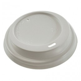 Одноразовые крышки для стакана 250 мл (d-80), КОМПЛЕКТ 100 шт., питейник, белые, ФОРМАЦИЯ, CH-80-A, CH-80-А