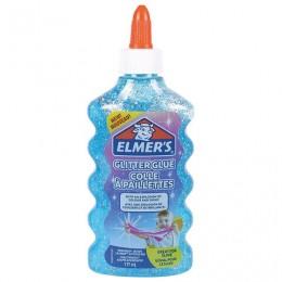 Клей для слаймов канцелярский с блестками ELMERS Glitter Glue, 177 мл, голубой, 2077252