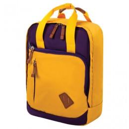 Рюкзак BRAUBERG FRIENDLY молодежный, горчично-фиолетовый, 37х26х13 см, 270093