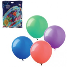 Шары воздушные 12 (30 см), комплект 100 шт., 12 пастельных цветов, в пакете, 1101-0006
