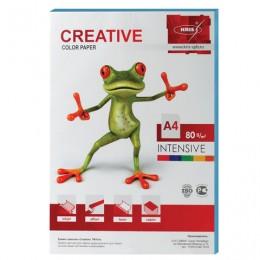Бумага CREATIVE color (Креатив) А4, 80 г/м2, 100 л., интенсив голубая, БИpr-100г