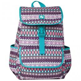 Рюкзак BRAUBERG для старшеклассников/студентов/молодежи, узоры, Ромб, 15 литров, 34х25,5х12,5 см, 226358