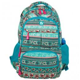 Рюкзак BRAUBERG для старшеклассников/студентов/молодежи, узоры, Индия, 27 литров, 47х32х14 см, 226355