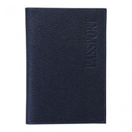 Обложка для паспорта BEFLER Грейд, натуральная кожа, тиснение, синяя, O.1.-9