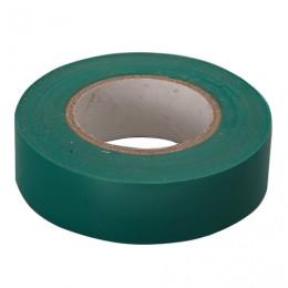 Изолента ПВХ, 15 мм х 10 м, СИБРТЕХ, 130 мкм, зеленая, 88791
