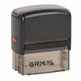 Штамп самонаборный 7-строчный, размер оттиска 69х30 мм, синий без рамки, GRM 50, КАССЫ В КОМПЛЕКТЕ, GRM50