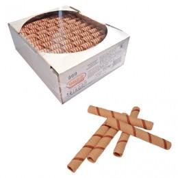 Вафельные трубочки СЕМЕЙКА ОЗБИ, шоколадные, 650 г, гофрокороб, 869