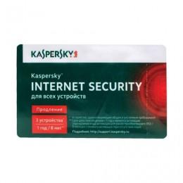 Антивирус KASPERSKY Internet Security, лицензия на 3 устройства, 1 год, карта продления, KL1941ROCFR