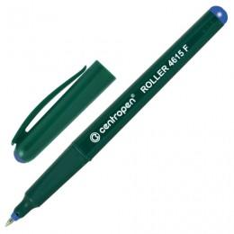 Ручка-роллер CENTROPEN, трехгранная, корпус зеленый, узел 0,5 мм, линия 0,3 мм, синяя, 4615/1C