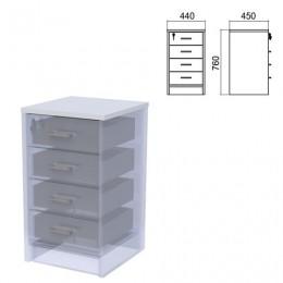 Крышка для тумбы приставной (АТ-05) Арго, 440х450х22 мм, серый