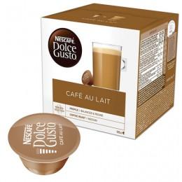 Капсулы для кофемашин NESCAFE Dolce Gusto Cafe au lait, натуральный кофе с молоком, 16 шт. х 10 г, 12148061