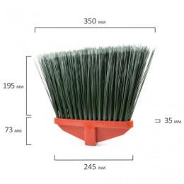 Метла синтетическая плоская ГАРДЕНА LUX, без черенка, еврорезьба, пластик, ЛАЙМА EXPERT, 605371