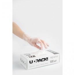 Перчатки полиэтиленовые одноразовые 250 пар (500 шт.) размер L, коробка-диспенсер, плотные