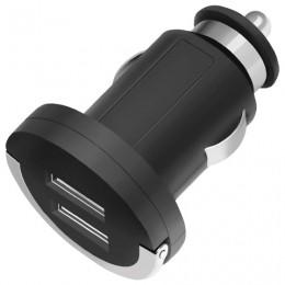 Зарядное устройство автомобильное DEPPA Ultra, 2 порта USB, выходной ток 2,1 А, черное, 11204