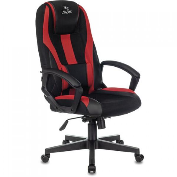 Кресло компьютерное VIKING-9/BL+RED, подушка, экокожа/ткань, черное/красное, 1583707