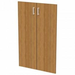 Дверь ЛДСП средняя Арго, КОМПЛЕКТ 2 шт., 355х18х1120 мм, орех, А-610