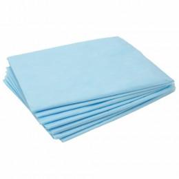 Простыни ЧИСТОВЬЕ нестерильные, комплект 100 шт., 70х80 см, СМС 14 г/м2, голубые, 01-462