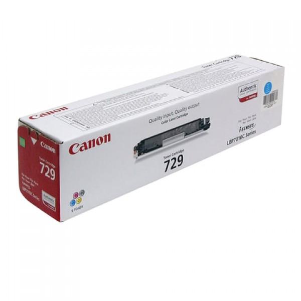 Картридж лазерный CANON (729C) LBP7010C/7018C, голубой, ресурс 1000 страниц, оригинальный, 4369b002