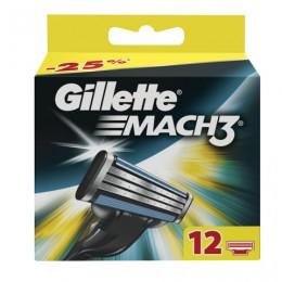 Сменные кассеты для бритья 12 шт., GILLETTE (Жиллет)