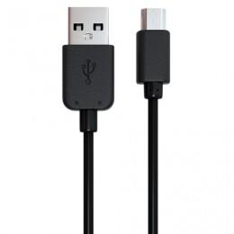 Кабель USB-micro USB 2.0, 1 м, RED LINE, для подключения портативных устройств и периферии, черный, УТ000002814