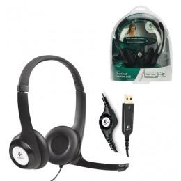 Наушники с микрофоном (гарнитура) LOGITECH H390, проводная, компьютерная, 2,4 м, стерео, USB, черная, 981-000406