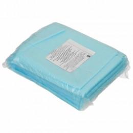 Простыни одноразовые ГЕКСА нестерильные, комплект 10 шт., 70х200 см, спанбонд 25 г/м2, голубые